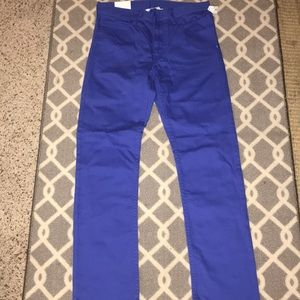 H&M royal blue slim leg jeans size 13-14 boys